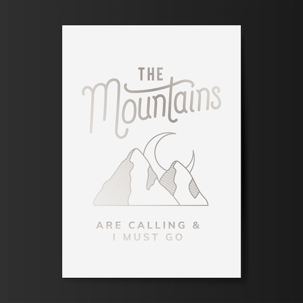 The mountains logo illustration Free Vector
