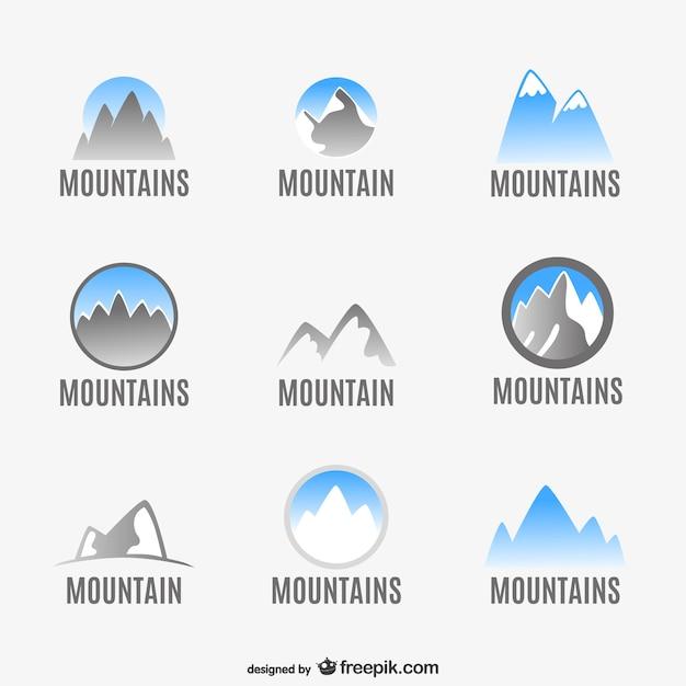 Mountains logo set