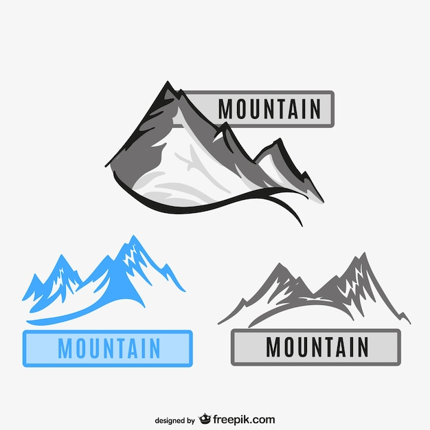 Mountains logos Free Vector