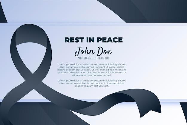 Simbolo di lutto con nastro di rispetto nero Vettore gratuito