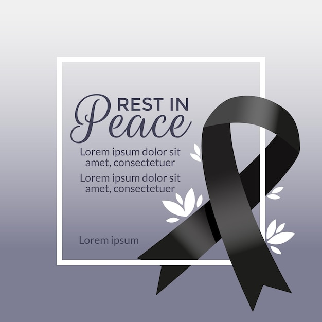 Mourning for victims concept Premium Vector