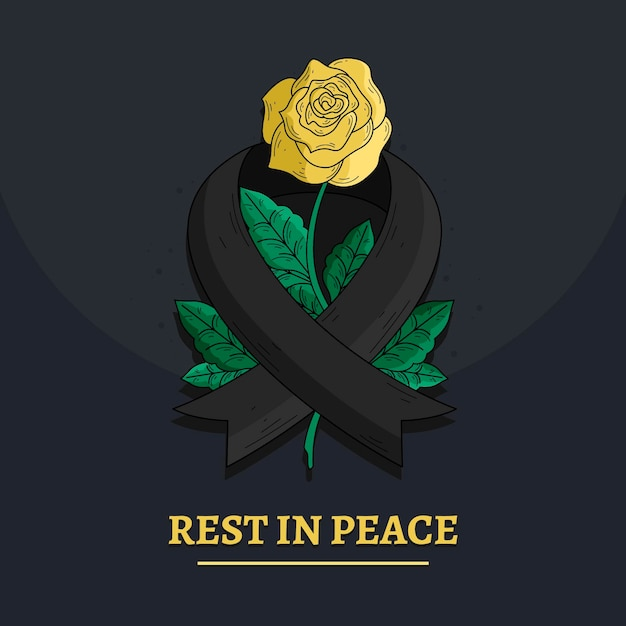 Mourning for the victims concept Free Vector