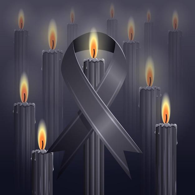 Lutto per il concetto di vittime Vettore gratuito