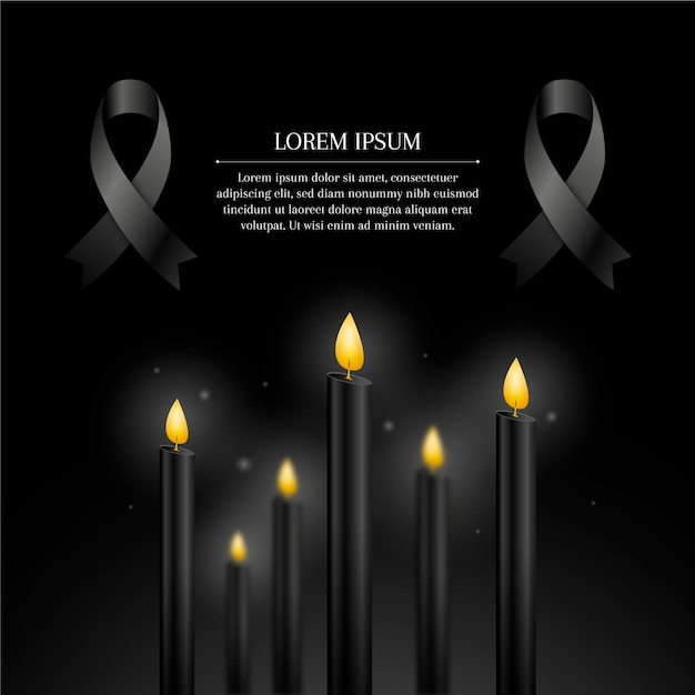 Mourning for the victims design Free Vector