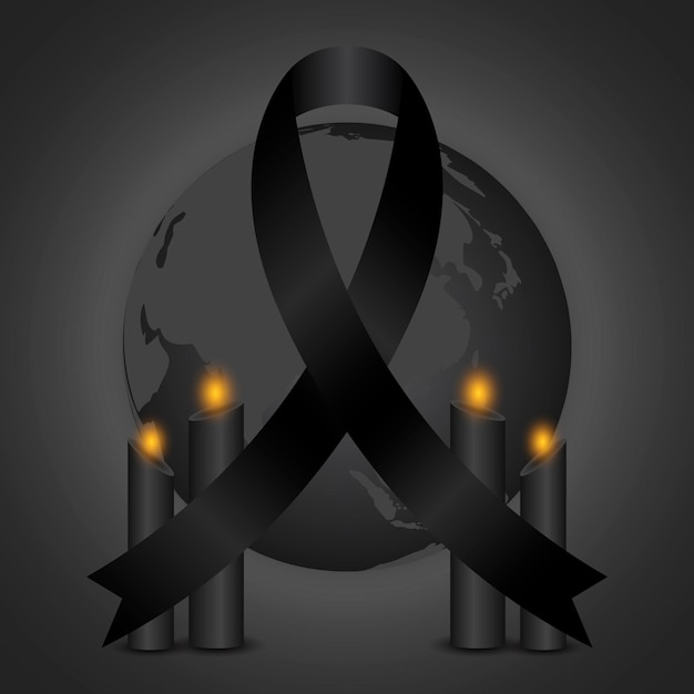 Mourning for the victims illustration Free Vector