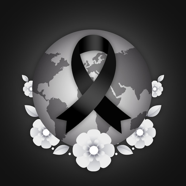 Mourning for victims Free Vector