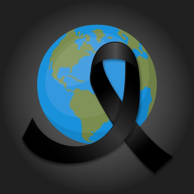 Mourning for the victims Free Vector