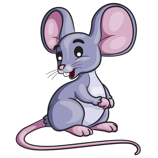 Mouse cartoon Premium Vector