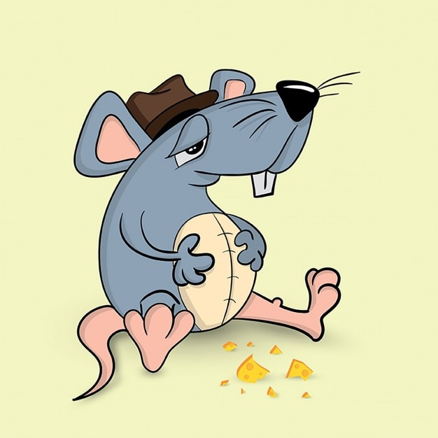 The mouse has eaten much Free Vector