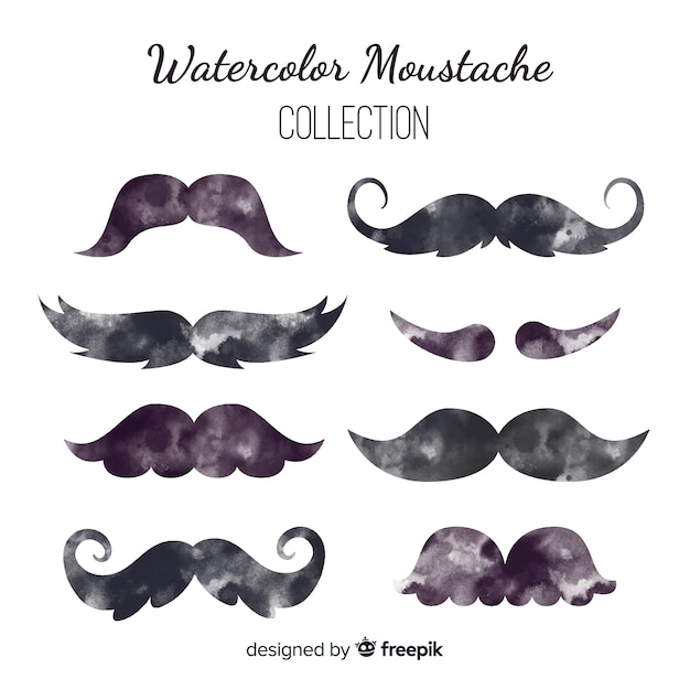 Moustache collection Free Vector