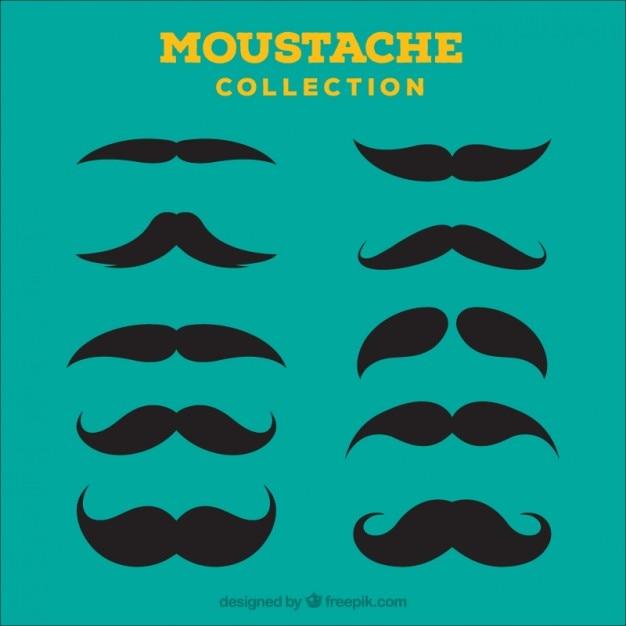 Moustache icon collection Premium Vector