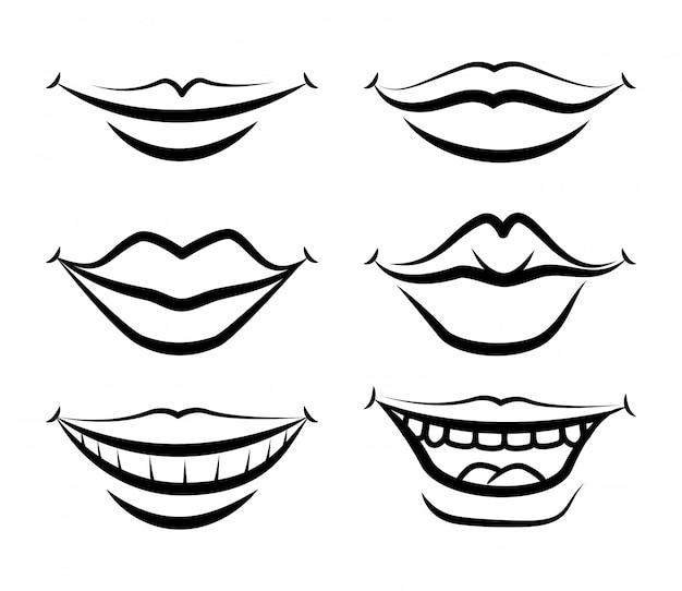 Mouth design Premium Vector