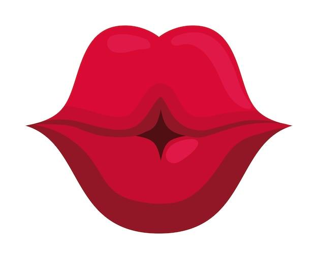 Sexy mouth kiss
