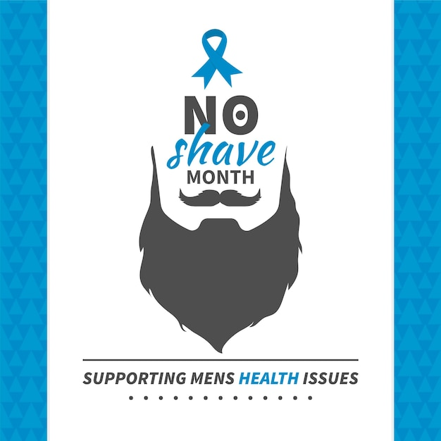 Movember background in vintage style Free Vector