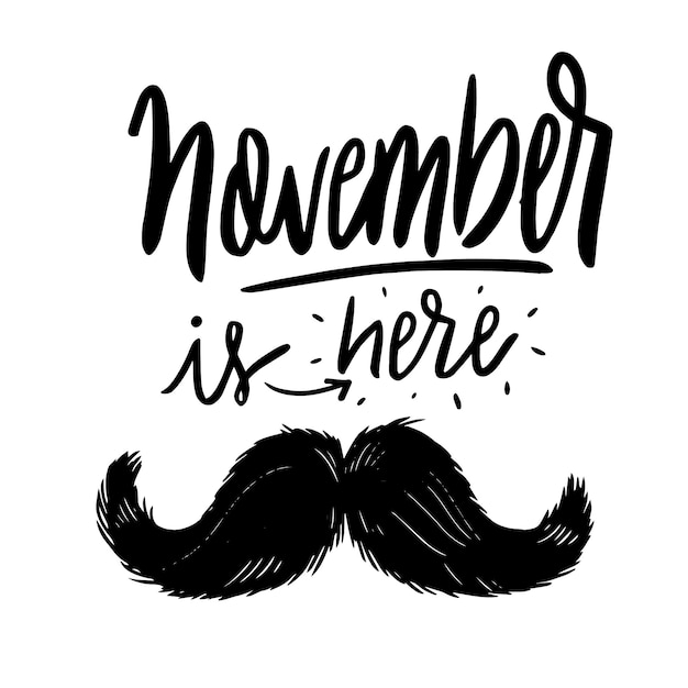 Movember background with lettering Free Vector