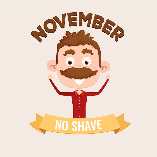 Movember background Free Vector
