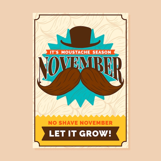 Movember banner Free Vector
