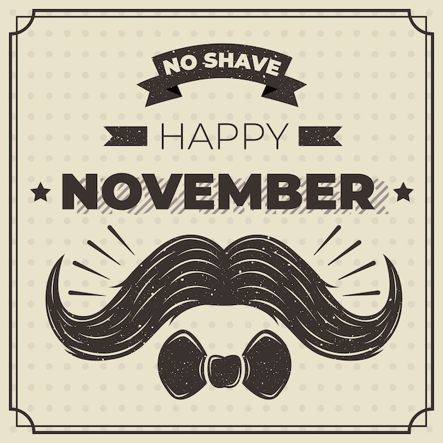 Movember concept with vintage design Free Vector