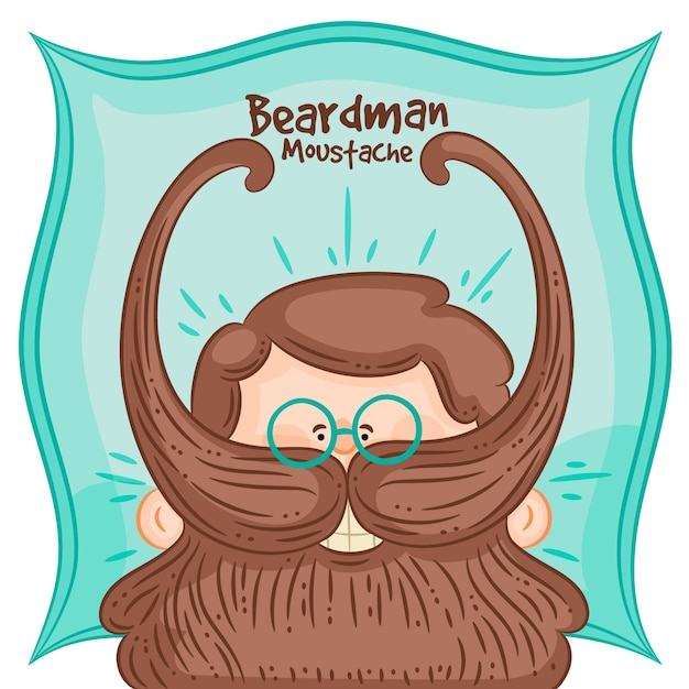 Movember design background with hipster beard Free Vector