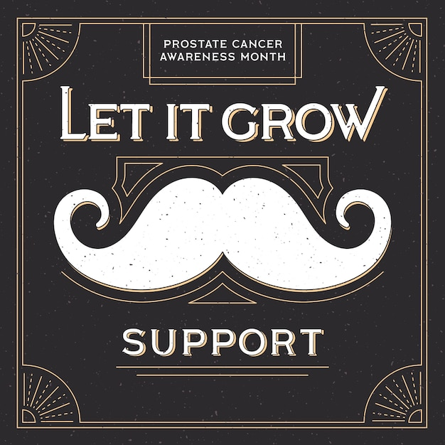 Movember design background with mustache Free Vector