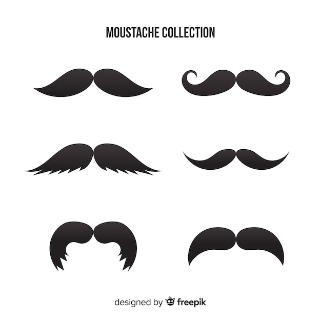 Movember moustache collection Free Vector