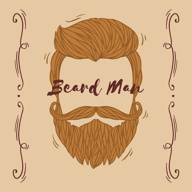 Movember mustache awareness background with lettering Free Vector