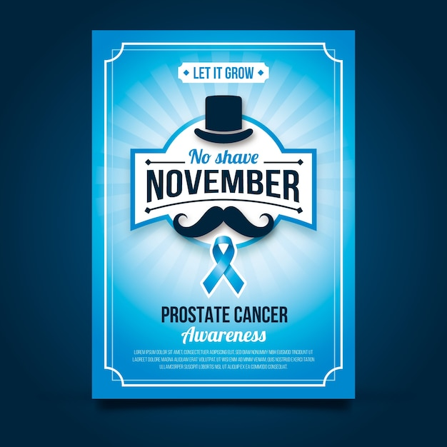 Movember poster Free Vector