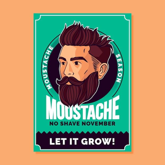 Movemberのバナー 無料ベクター