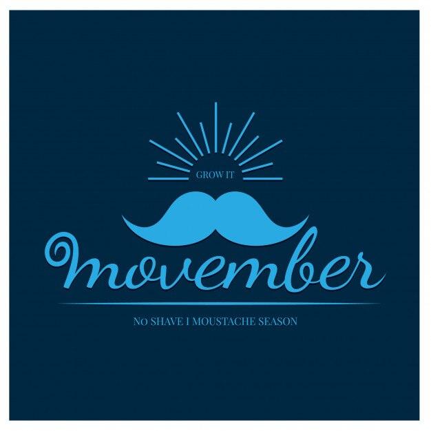 Movember Premium Vector