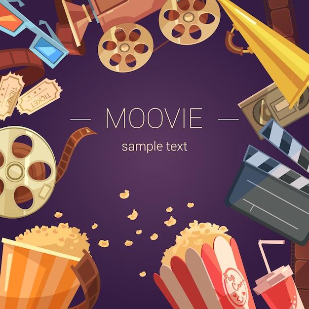 Movie cartoon background Free Vector