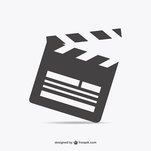Movie clapperboard Free Vector