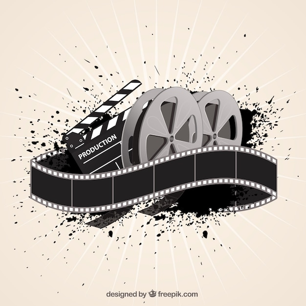 Movie film background in abstract style Free Vector