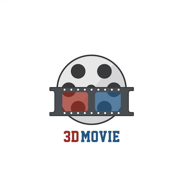 Movie logo Premium Vector