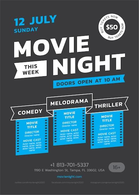 Movie Night Template from image.freepik.com