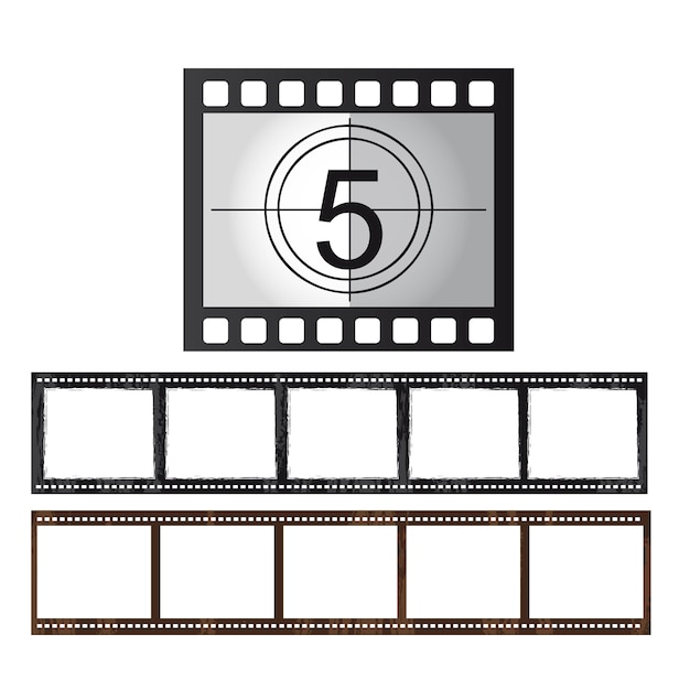 Movie tape isolated over white background vector Premium Vector