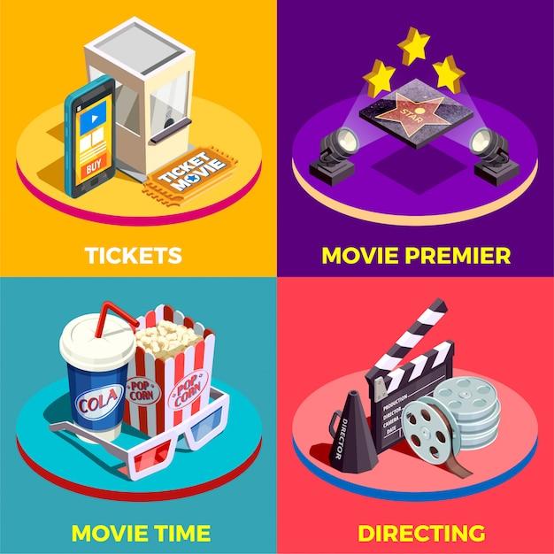 Movie time design concept Free Vector
