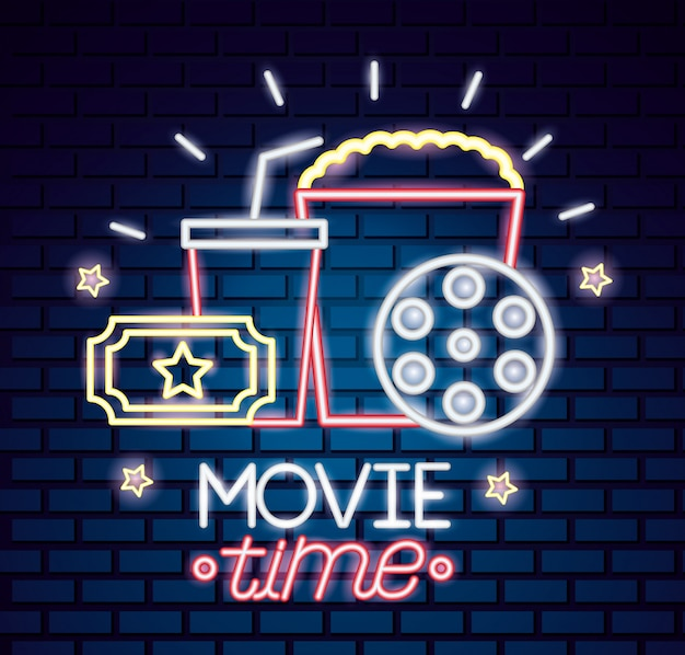 Movie time wallpaper Vector Image - 1804978   StockUnlimited