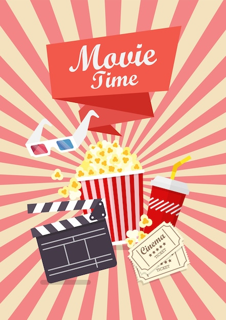 Movie Time Poster 478270 - Download Free Vectors, Clipart