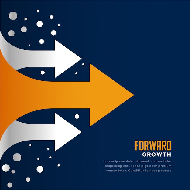 Moving forward and leading arrow concept template Free Vector