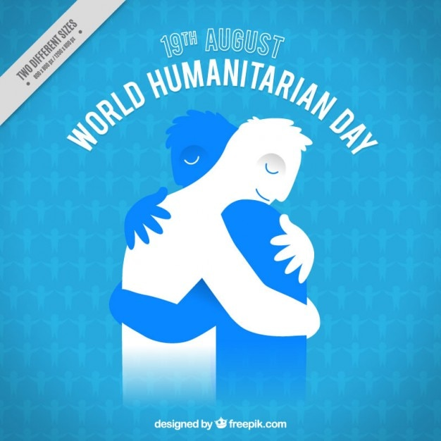 Moving humanitarian day background Free Vector