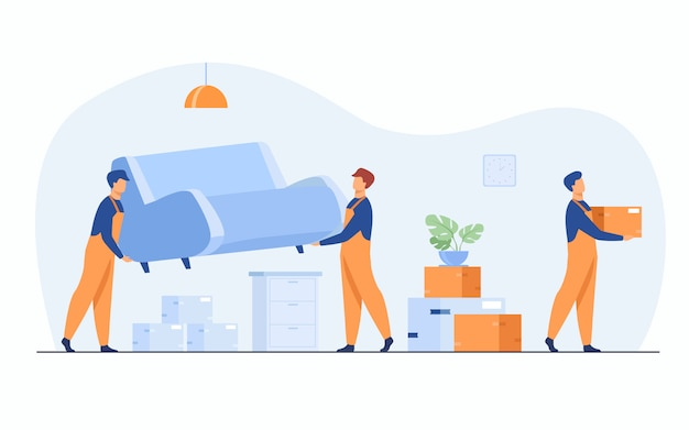 Moving to new apartment concept Free Vector