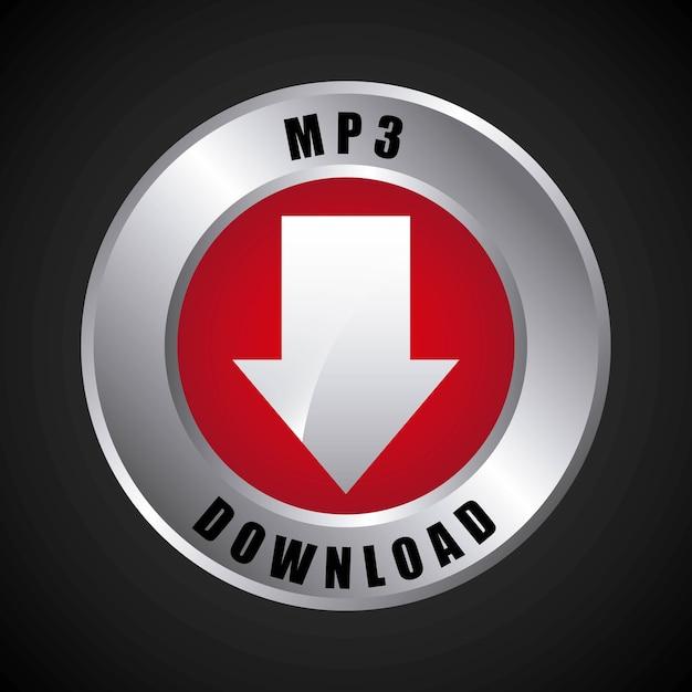 Mp3 download Premium Vector