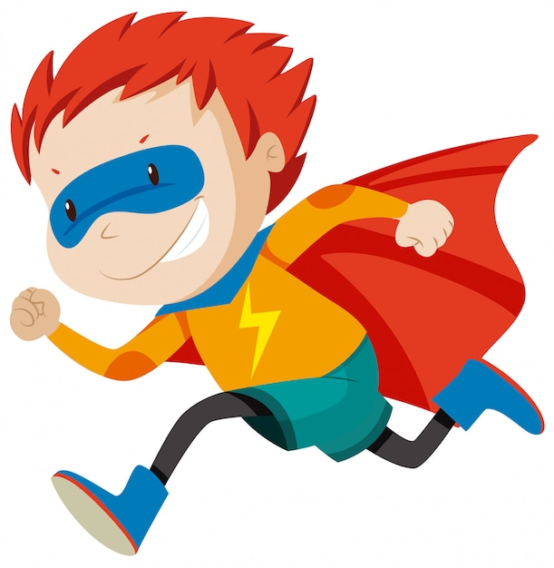 A msle super hero character Free Vector