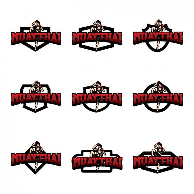 muaythai logo templates design vector free download rh freepik com muay thai logo designs Muay Thai Logo Design