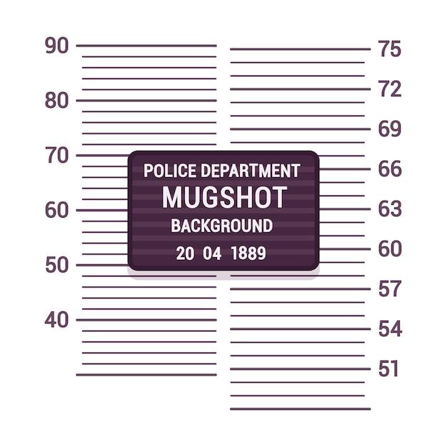 Mugshot background template Premium Vector