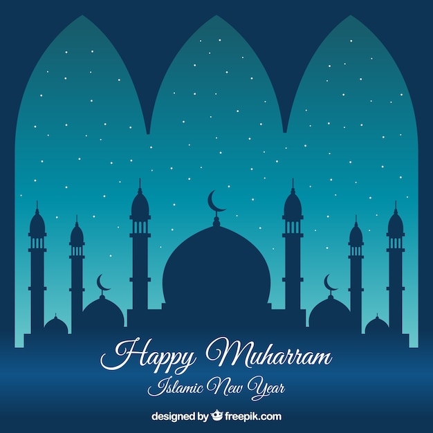 Muharram background design Free Vector