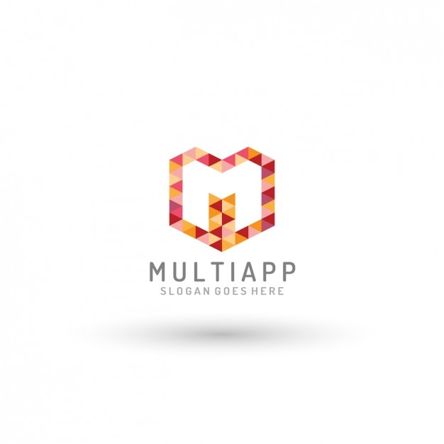 multi app logo template vector free download