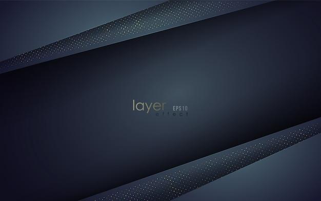 Multi layers effect. papercut style. Premium Vector