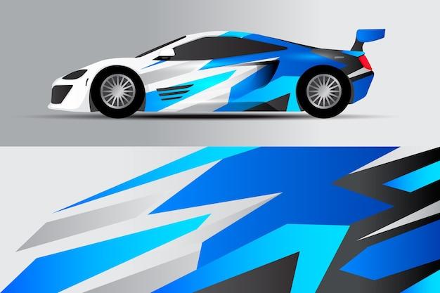 Multi tone car warp design Premium Vector