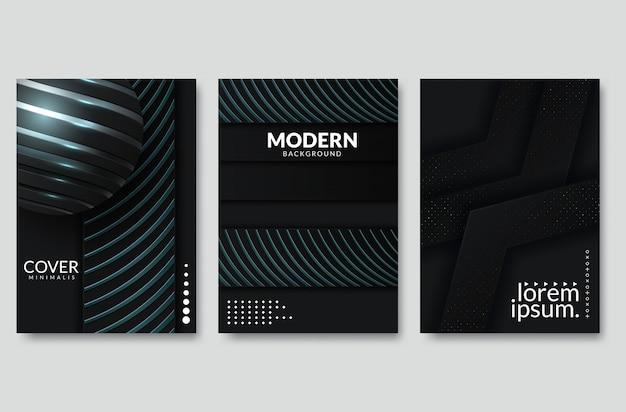 Черный современный фон вектор перекрывают multi бумаги освещения квадрат для дизайна текста и сообщений веб-сайта Premium векторы